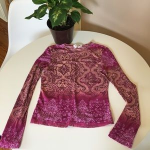 A. Buyer Sheer Sexy Long Sleeve Stretch Top